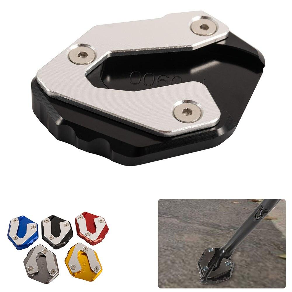Motocicleta ampliar kickstand suporte lateral alargamento base placa de extensão almofada para yamaha mt 09 tracer 2014-2018 xsr900 2016-2018