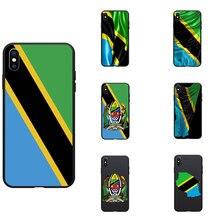 Tanzanie drapeau National armoiries thème souple coques de téléphone couverture Image Logo pour iPhone 6 7 8 S XR X Plus 11 Pro Max