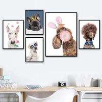 ballon labrador bull terrier hond art decor foto kwekerij kinderkamer muur decor kwaliteit canvas schilderij poster thuis decor