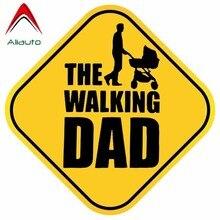Aliauto Waarschuwing Auto Sticker De Lopen Vader Baby Aan Boord Leuke Waterdichte Cover Kras Anti-Uv Accessoires Pvc Decal,15Cm * 15Cm