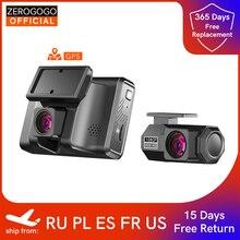 ZEROGOGO 2K Car DVR Video Recorder with GPS Dual Dash Cam Front and Rear Dash Camera 24H Parking Mon
