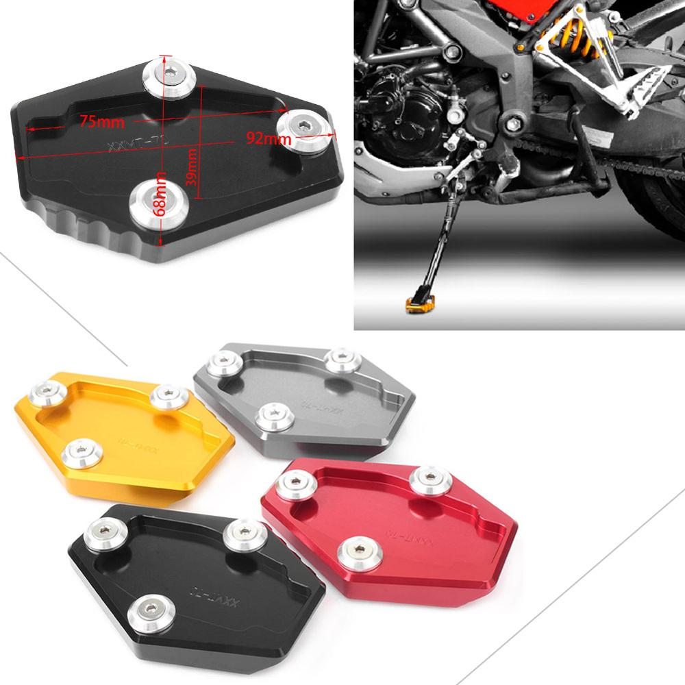 Motorcycle Kickstand Foot Side Stand Extension Enlarge Pad Support Plate For Ducati Multistrada Monster 795 796 821 1200 1200S