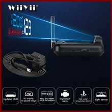 WiiYii Mirror C500 HUD Car Head up display  Speed Projector Security Alarm Water temp Overspeed RPM