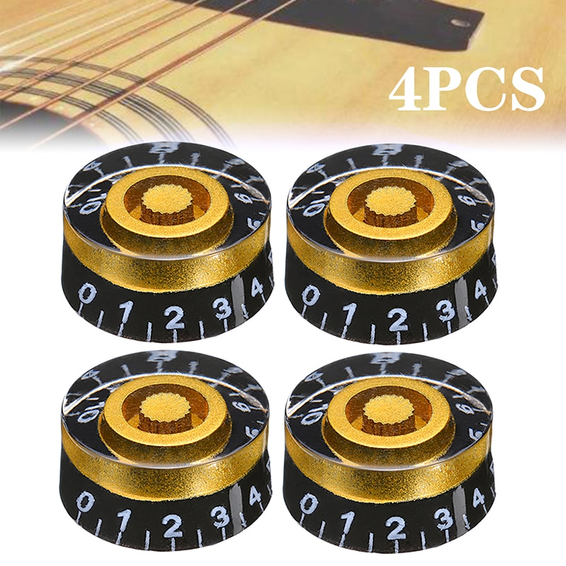 4Pcs Guitar Volume Control Knobs Speed Volume Tone Control Knobs For Gibson Les Paul Electric Guitar Accessories