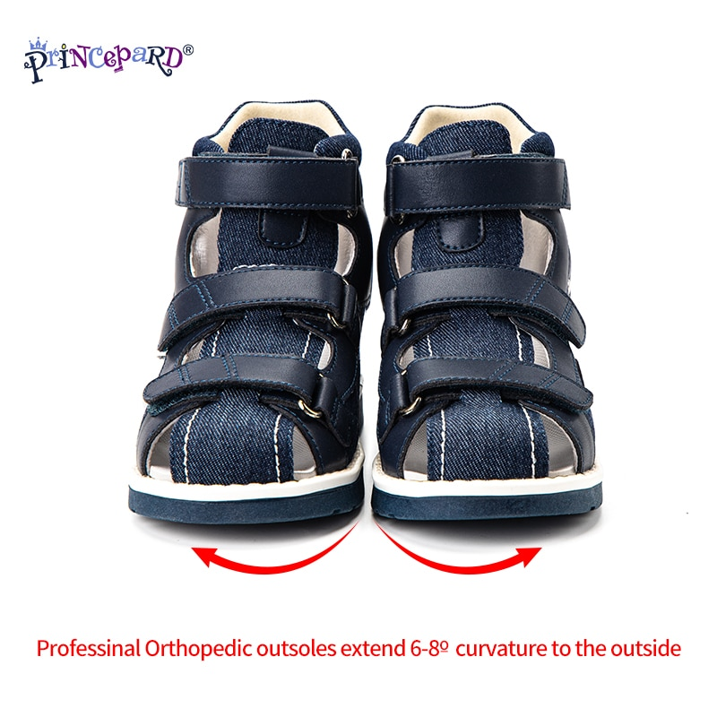 Princepard Orthopedic Kids Shoes 2021 New Summer High Back Corrective Sandals for Arch Support Care with Adjustable Strap enlarge