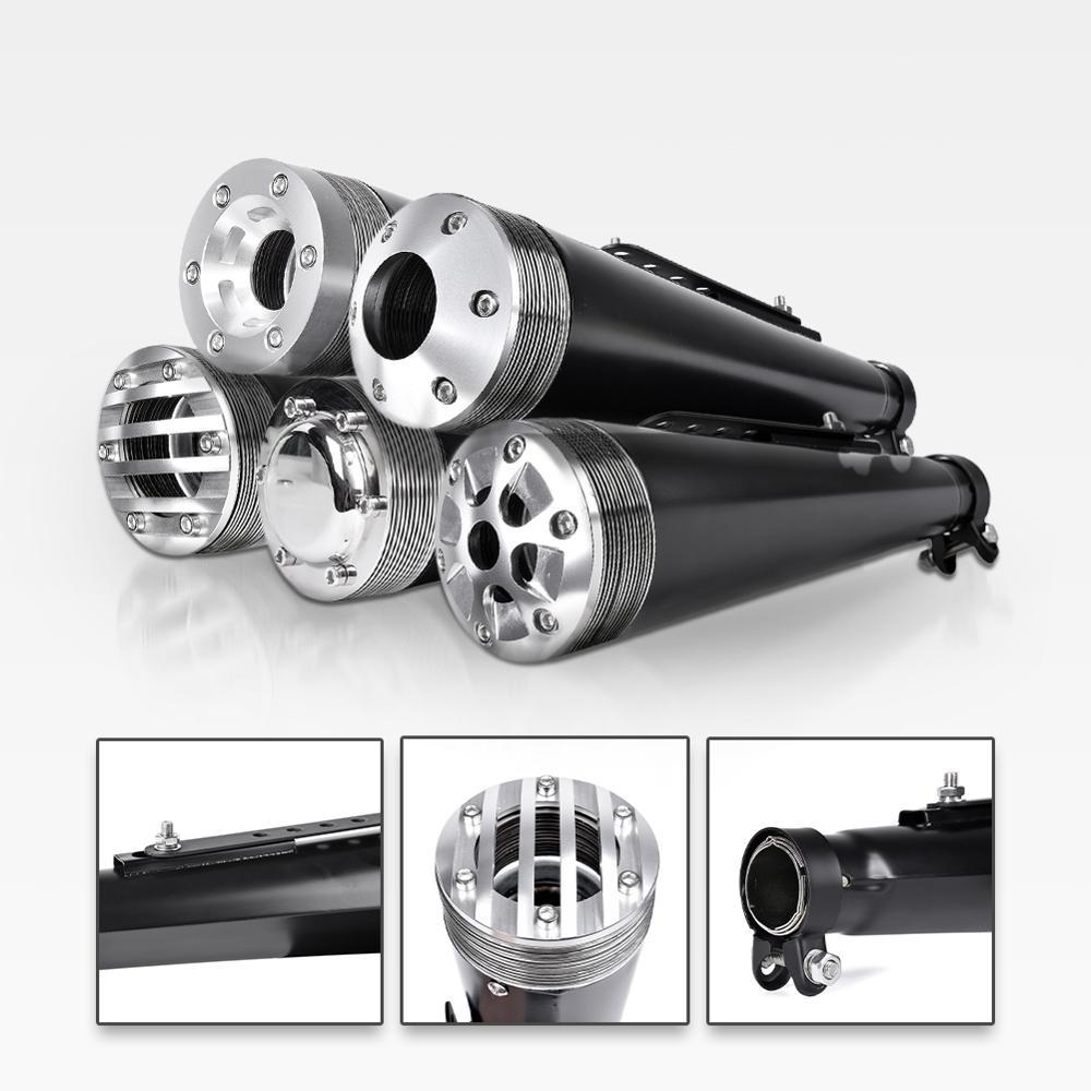 LJBKOALL 38 мм 40 мм, 42 мм, 45 мм универсальный глушитель для мотоциклов выхлопа из нержавеющей стали для cg125 sr400 cb500 vt500 w800 v7