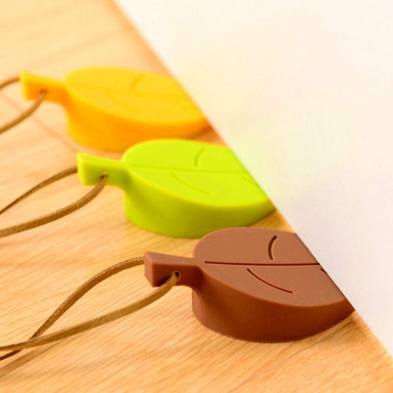 Topes de goma de silicona para puerta, bloque de puerta con forma de hojas, puerta de seguridad de mano anticarpeta para niños