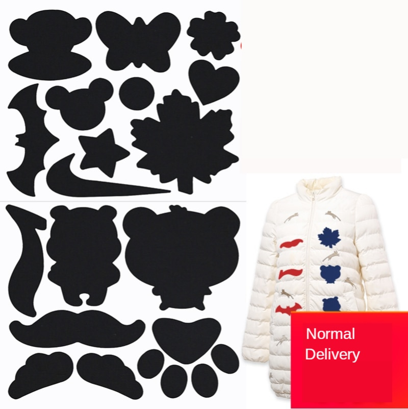 Colorful Down Jacket Hole Repair Self Adhesive Stickers Waterproof PVC Patches Cartoon Shape Coat Cl