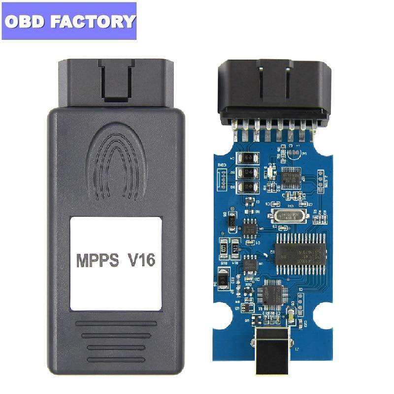 MPPS V16 ECU Tuning Tool MPPS V16.1.02 For EDC15 EDC16 EDC17 CHECKSUM Reflash ECU Remapping CAN Flasher ECU Programmer