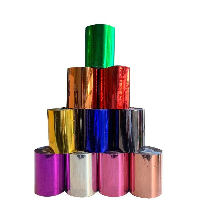 1 Roll 8cmx120M 10 Colors Hot Stamping Foil Heat Transfer Laminating Napkin Gilding PVC business Card Emboss