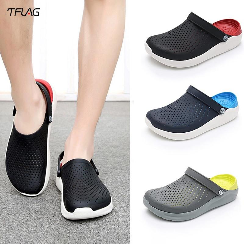 Sandalias de hombre MELAMPUS, zapatillas antideslizantes Baotou, zapatos de playa, Sandalias de tacón plano para parejas