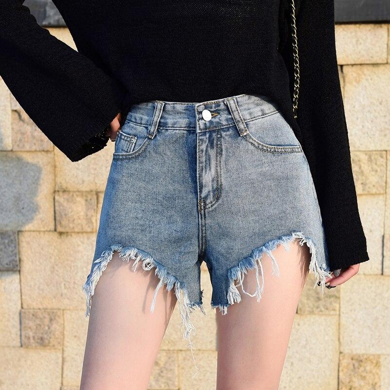 Женские джинсовые шорты большого размера, женские шорты с высокой талией, джинсовые шорты, женские джинсовые шорты на лето 2020 sweet sktbs джинсовые шорты