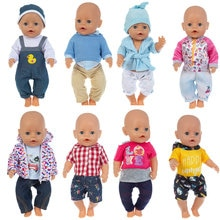 43cm New Born Baby Doll Clothes Fashion Outfits for 17 Inch Baby Doll American OG girl Doll Suits