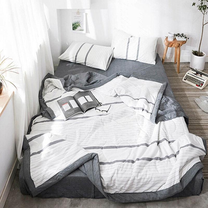 Summer quilt thin quilt 100% cotton lattice soft quilt