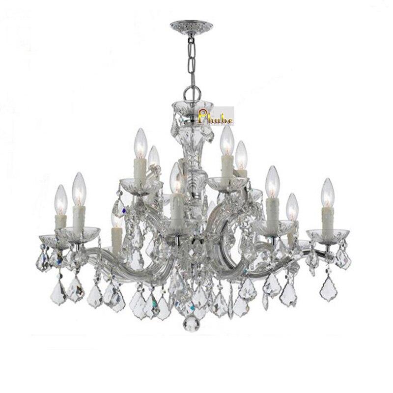 Phube-ثريا كريستالية من Maria Theresa K9 ، ثريا ذهبية/كروم ، إضاءة ، شحن مجاني