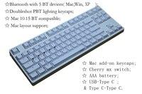 Mac bluetooth keyboard 87 mechanical keyboard TKL wireless keyboards cherry silent red switch game keyboard