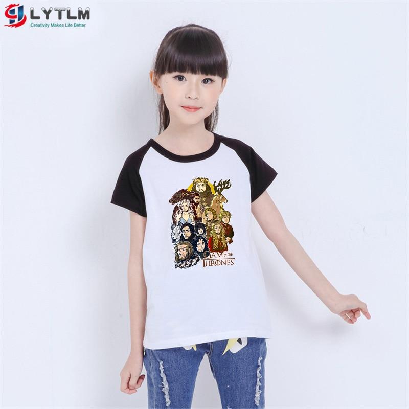LYTLM House Targaryen, camiseta para niños y niñas, ropa de verano, casa Stark Baratheon, camisetas de chicos, 12 años, ropa coreana para niñas