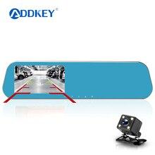 ADDKEY-caméra de recul DVR, caméra de tableau de bord avec rétroviseur, double objectif, dashcam, caméra de recul, Full HD 1080p, vision nocturne