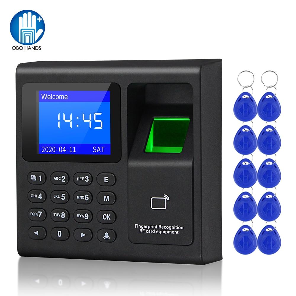 Biometric Fingerprint RFID Access Control Keypad System Electronic USB Time Clock Recorder Attendance Machine +10 Keyfobs Card