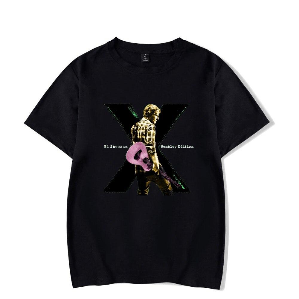Fashion Cool Ed Sheeran Print T shirt Spring Summer Holiday Men/Women Casual Tees Kawaii Style Streetwear Ed Sheeran Clothing
