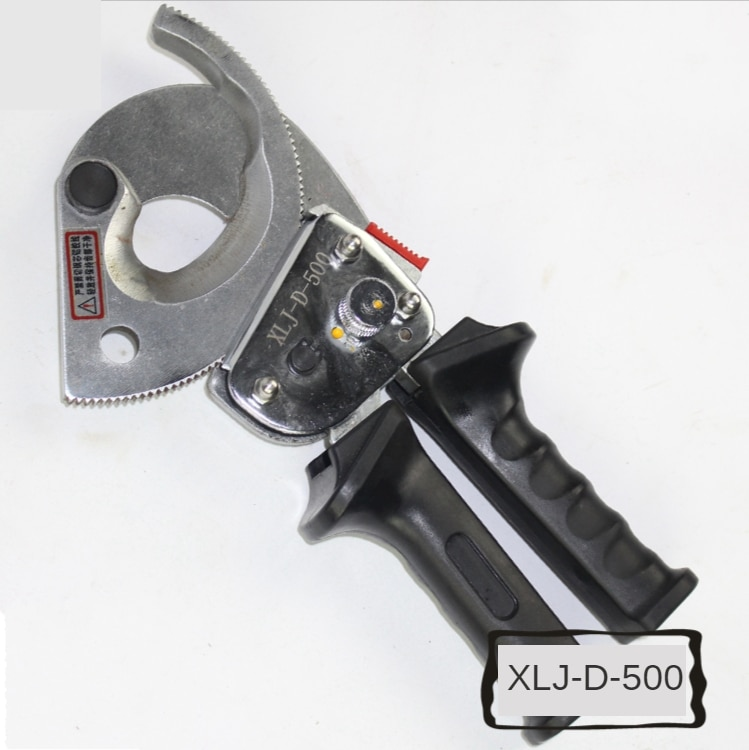 XLJ-D-500 Ratchet cable cutters wire cutters with telescopic handle for 500mm2 Cu/Alu cable enlarge