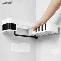 Etagere dangle de salle de bain sans clous  support de rangement  organisateur pour cuisine  etagere murale  support dangle rotatif reglable