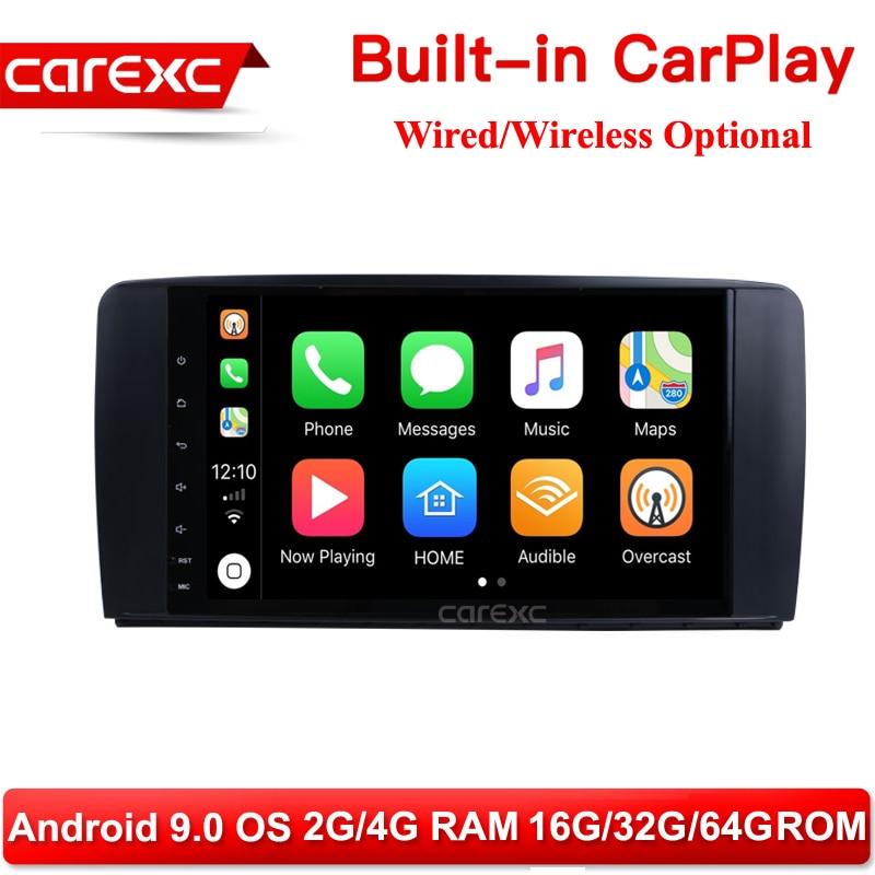CarExc Android 9,0 Radio CarPlay para Mercedes Benz Clase R W251 R280 R300 R320 R350 R63 2006-2013 GPS navegación reproductor ESTÉREO