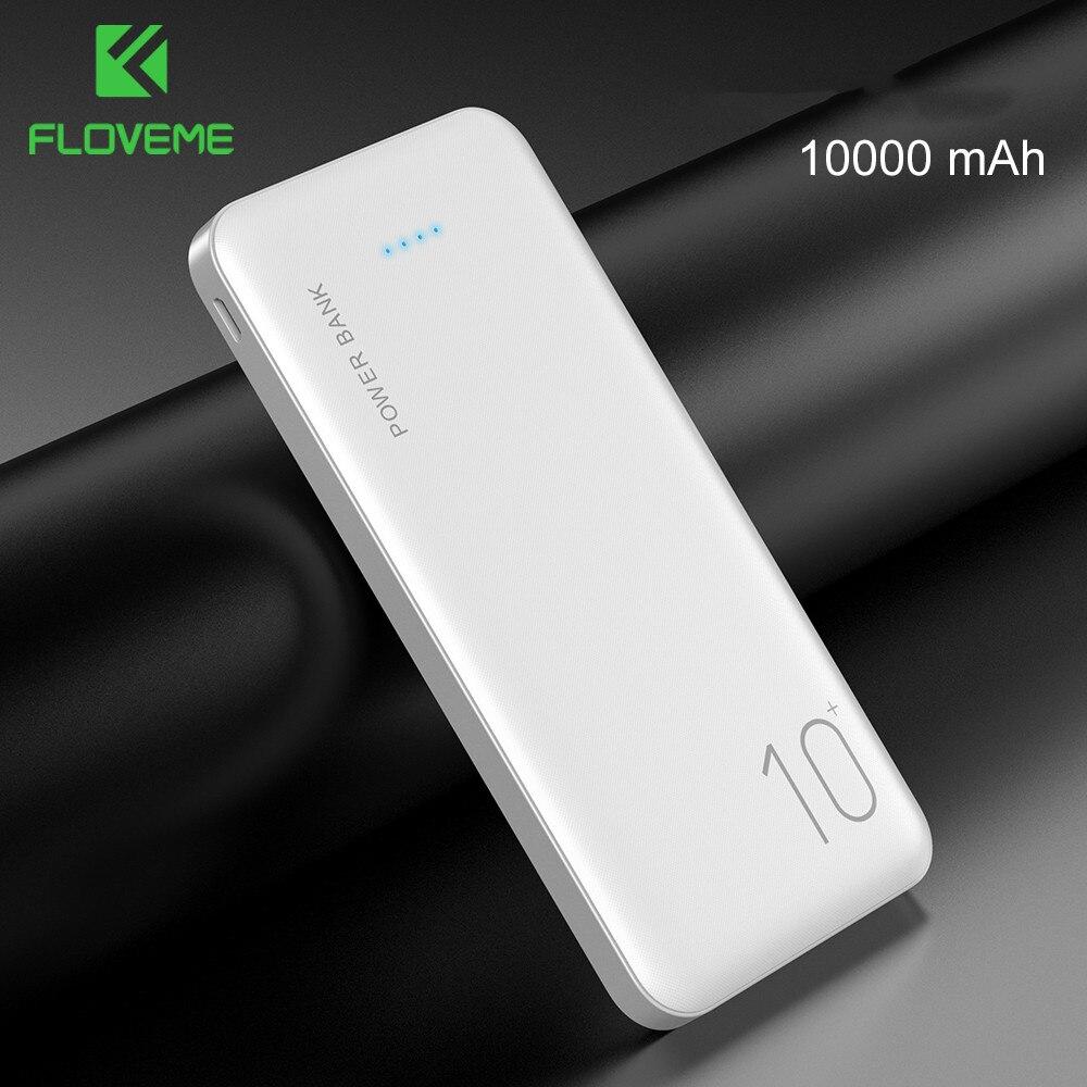 FLOVEME güç bankası 10000 mAh taşınabilir şarj cihazı iPhone 11 7 8 Xiaomi mi mobil harici pil Powerbank 10000 mAh poverbank