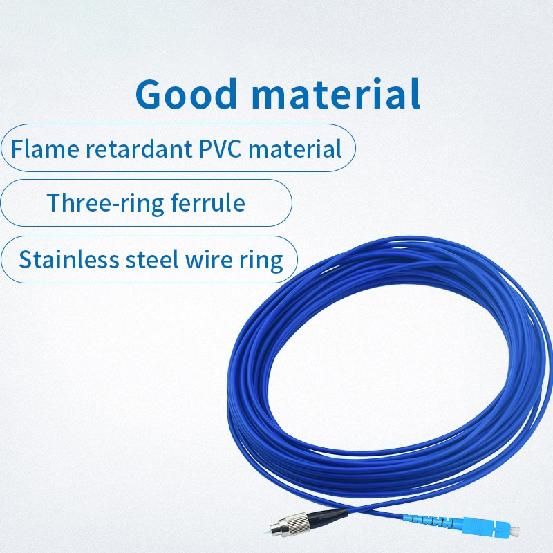 Armoured 3M LC SC FC ST Carrier Grade Fiber Optic Patch Cord Optical Cable 2.0 3.0mm FTTH Single Mode Simplex Fiber Patch Cable enlarge