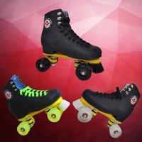black professional roller skate shoes aggressive roller skates 4 wheels skate shoes skeelers heren skating accessories bi50ss