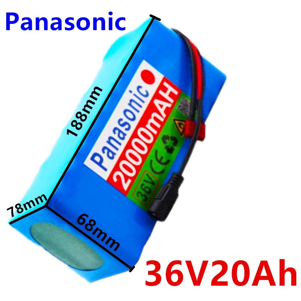 36V 10S4P 20Ah 500W de alta potencia la capacidad de 42V 18650 Paquete de batería de litio de 20000mAh de la bicicleta eléctrica bicicleta scooter BMS