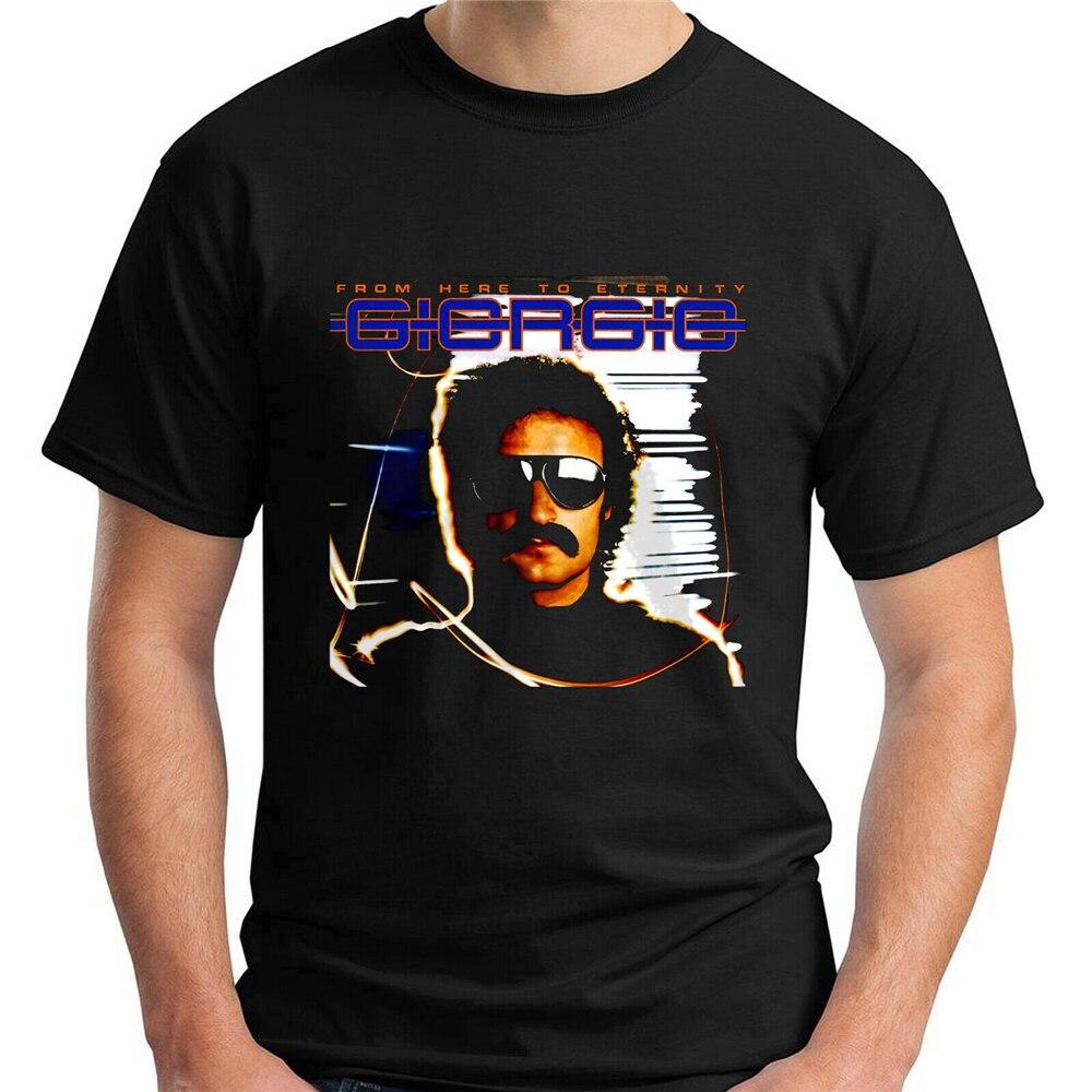 Giorgio Moroder Berühmte Sänger Legend Schwarz T - Shirt Größe S - 6xl Druck Bekleidung T Shirt