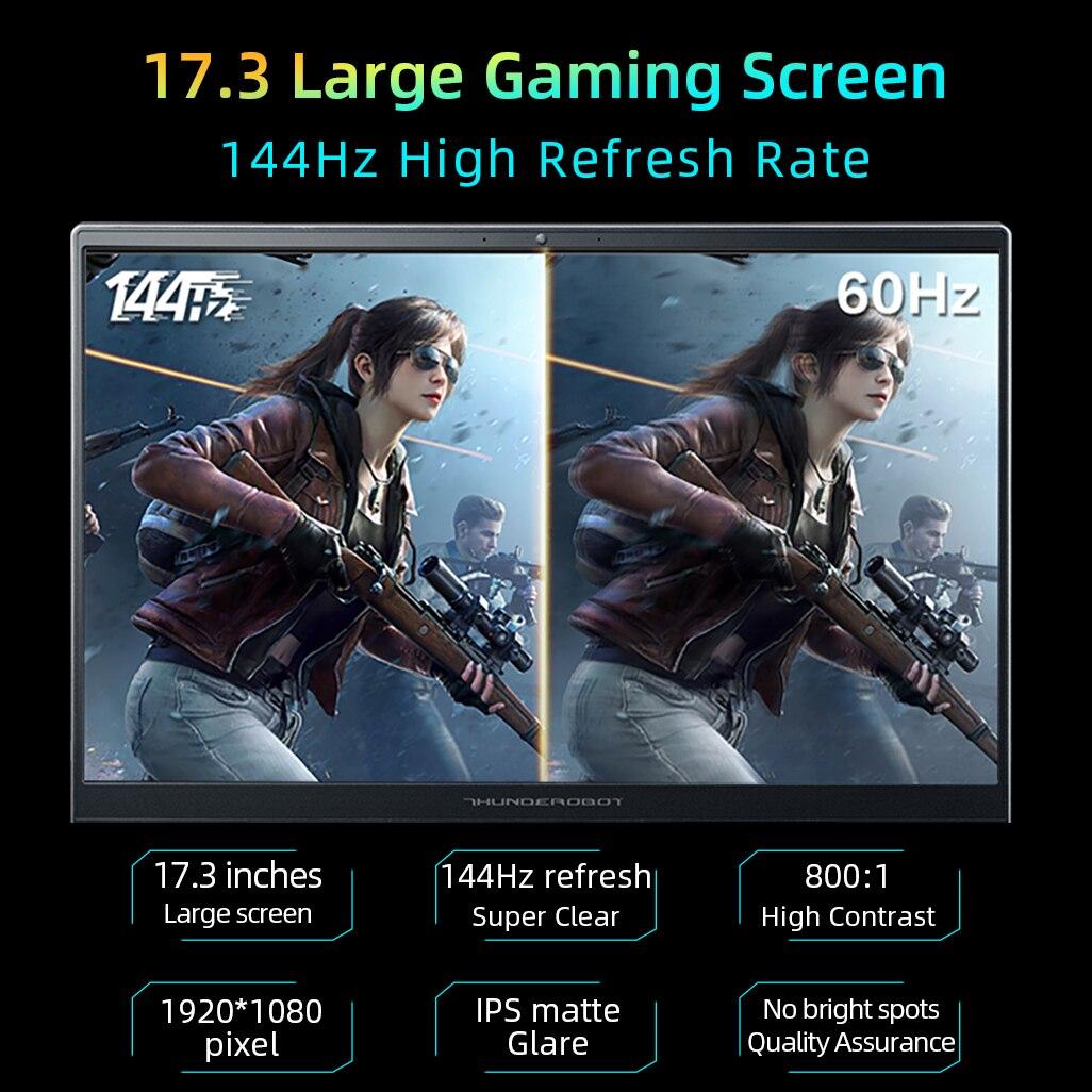 911Plus RTX3050 Gaming Laptop Intel Core 11th Gen 11800H 17 3 inch 144Hz Office Notebook Windows 10 pro 16G RAM 512G SSD Laptops 4