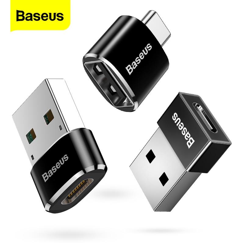 Baseus USB Type C OTG адаптер USB C папа к Micro USB женские Кабельные конвертеры для Macbook Samsung S10 Huawei USB к Type-c OTG | Мобильные телефоны и аксессуары | АлиЭкспресс