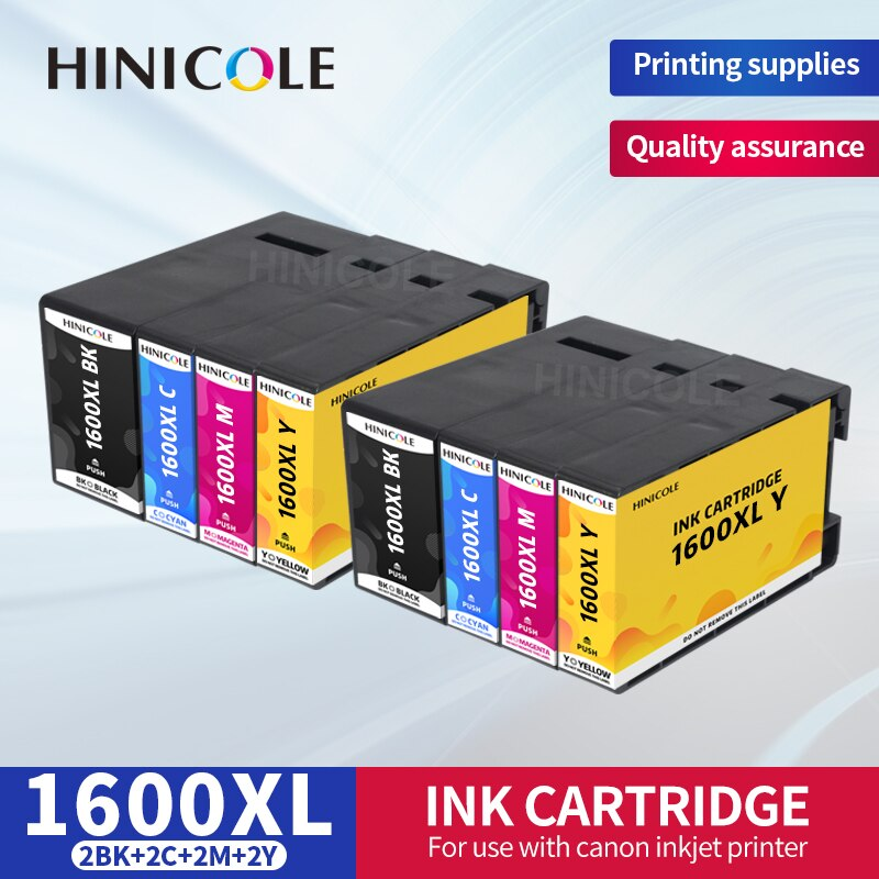 HINICOLE Compatible for Canon PGI-1600 PGI1600 PGI 1600 Ink Cartridge For MAXIFY MB2060 MB2360 Printer With Dye