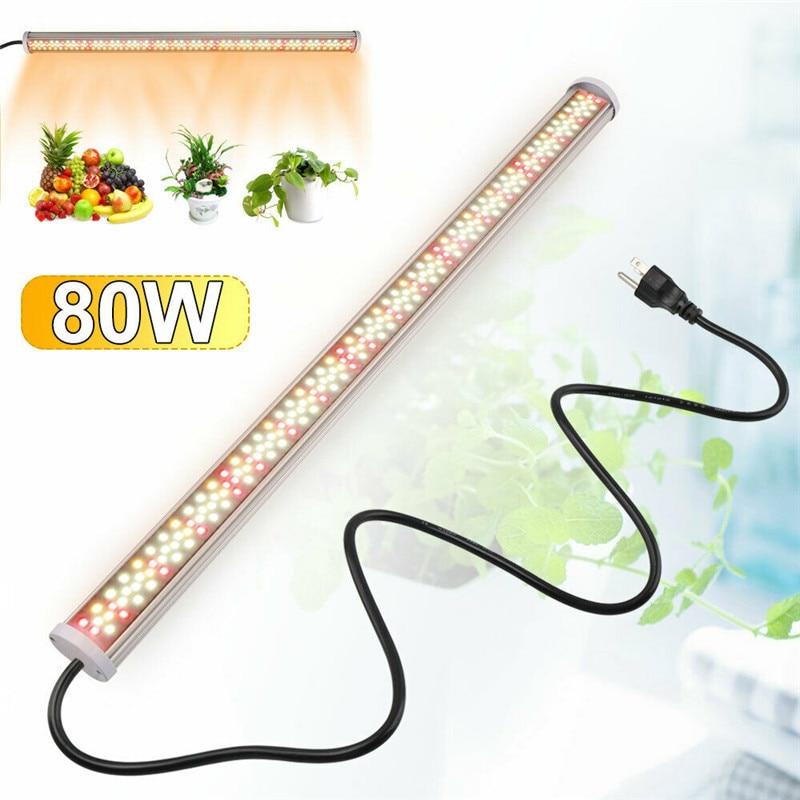 الطيف الكامل الصمام تنمو ضوء 80W أنبوب Led فيتو مصابيح 85V-265V تنمو LED مصباح بار المائية نمو النباتات أضواء الدافئة الأبيض الأحمر