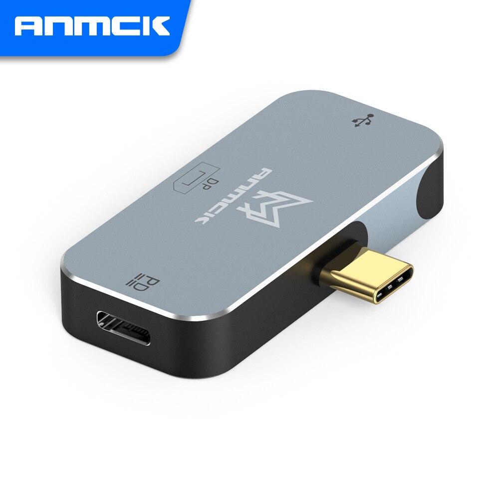Anmck USB tipo C a HDMI DP adaptador para portátil Macbook de...