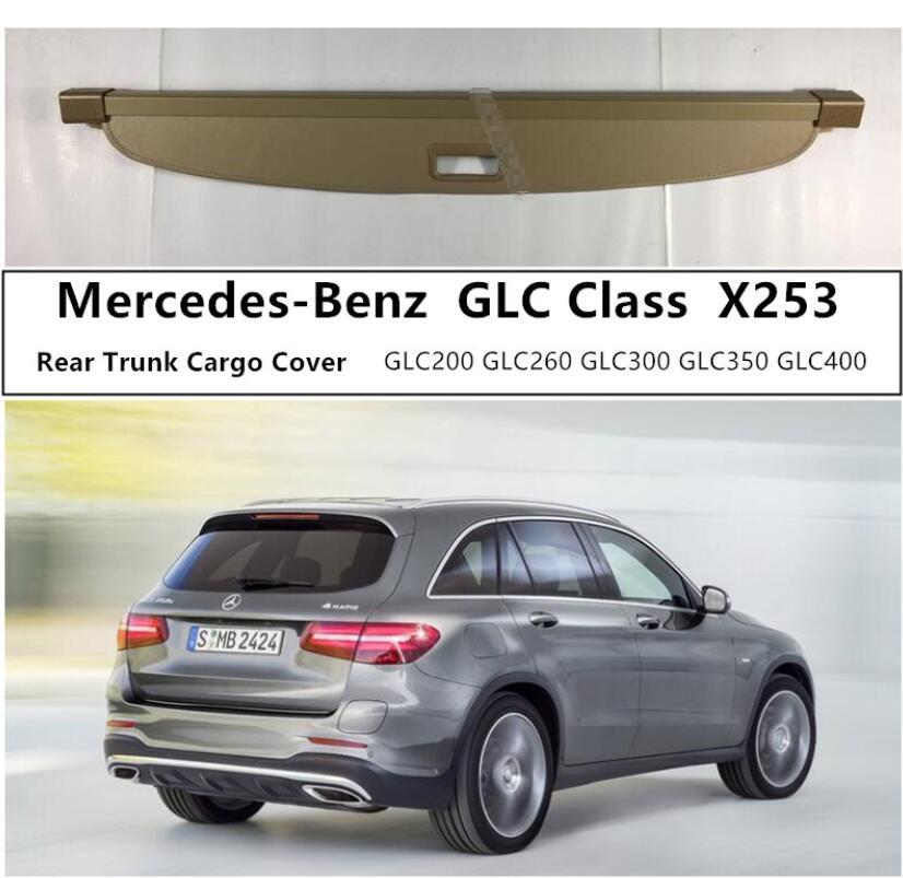 Cubierta trasera de maletero para mercedes-benz GLC Class X253 GLC200 GLC260 GLC300 GLC350, Escudo de seguridad de alta calidad, accesorio para coche