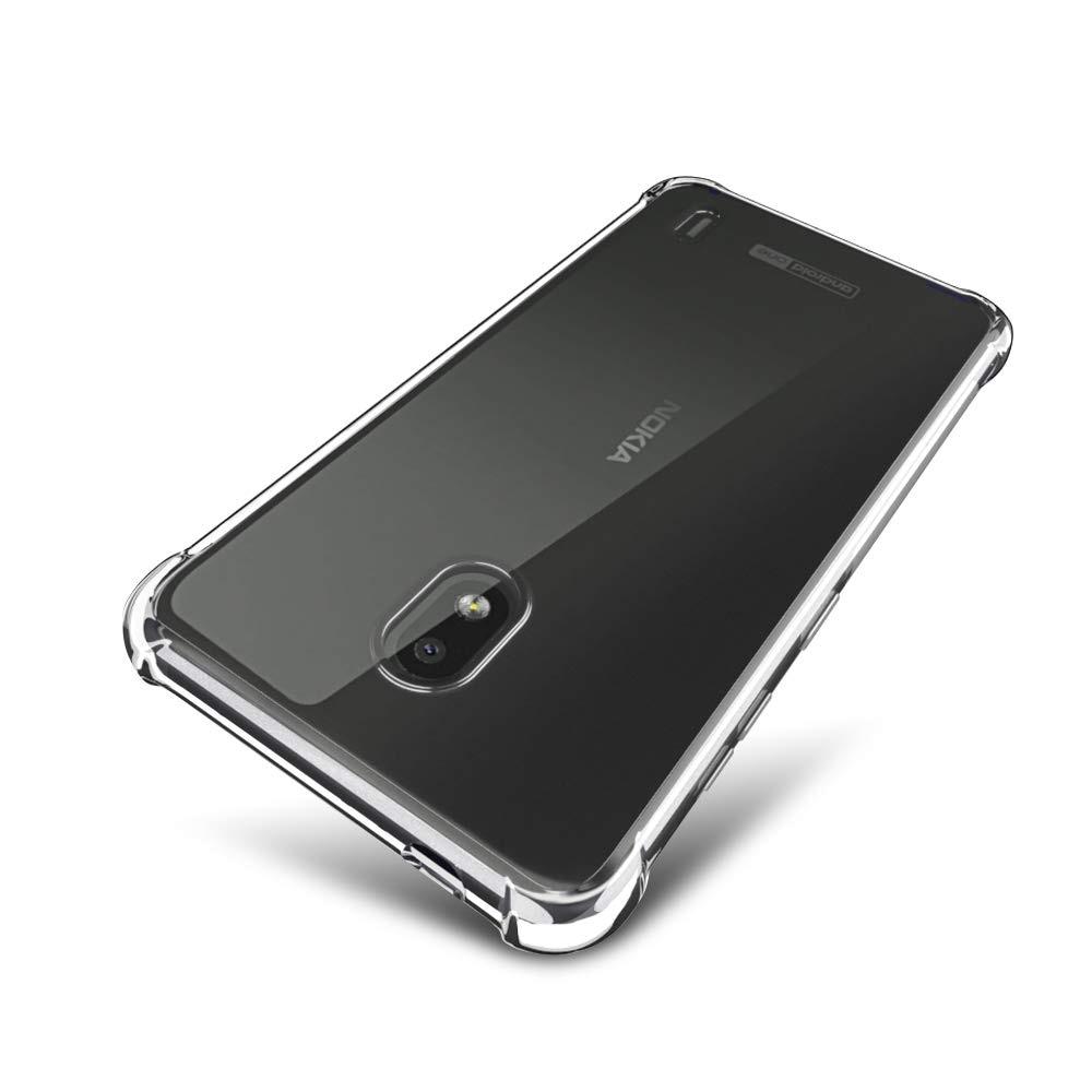 Funda blanda transparente para Nokia 2,2 Esquinas reforzadas funda trasera de silicona delgada funda protectora de parachoques