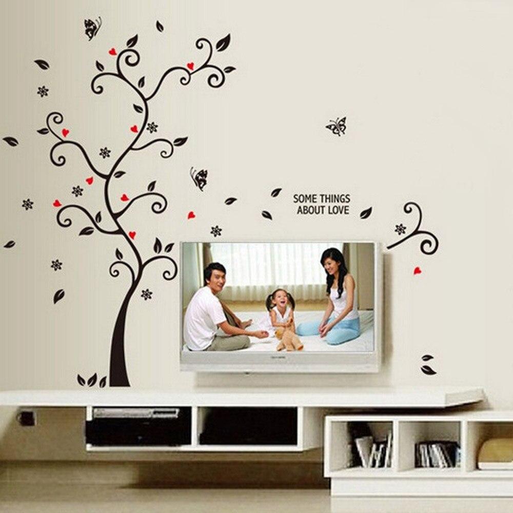 DIY foto familiar marco pegatinas de pared de árbol musulmán de vinilo pegatinas de pared decoración de la pared del dormitorio Mural papel tapiz póster arte 7,8