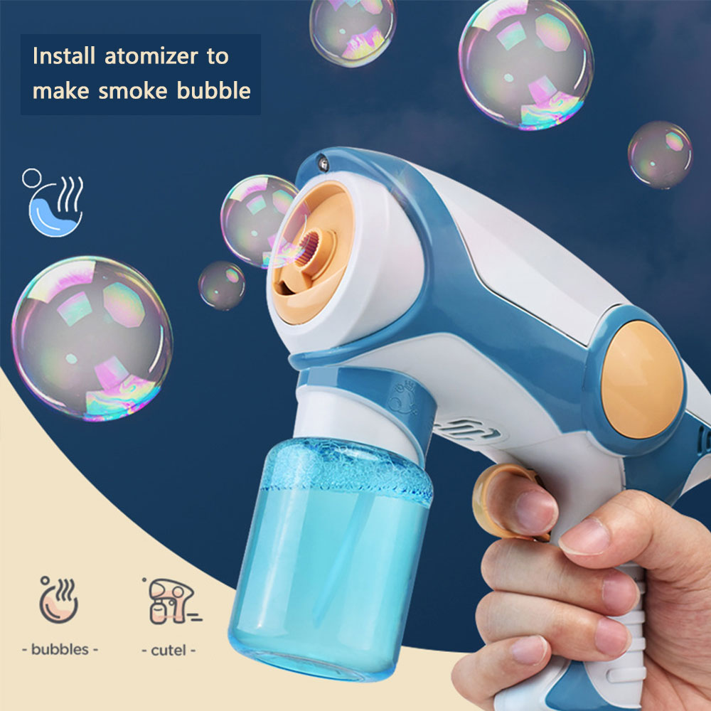 2020 New Summer Smoke Magic Bubble Machine Electric Automatic Bubble Blower Maker Gun Kids Outdoor Toys Birthday Gift