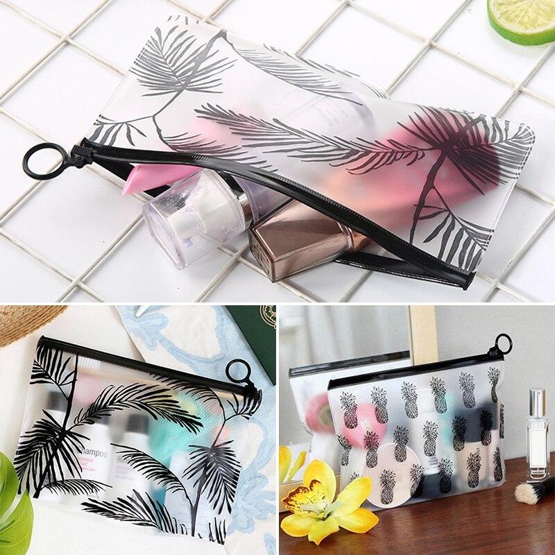 Прозрачные матовые сумки для макияжа, водонепроницаемые сумки-органайзеры с принтом, сумки для хранения косметики для дома, стола, путешест...