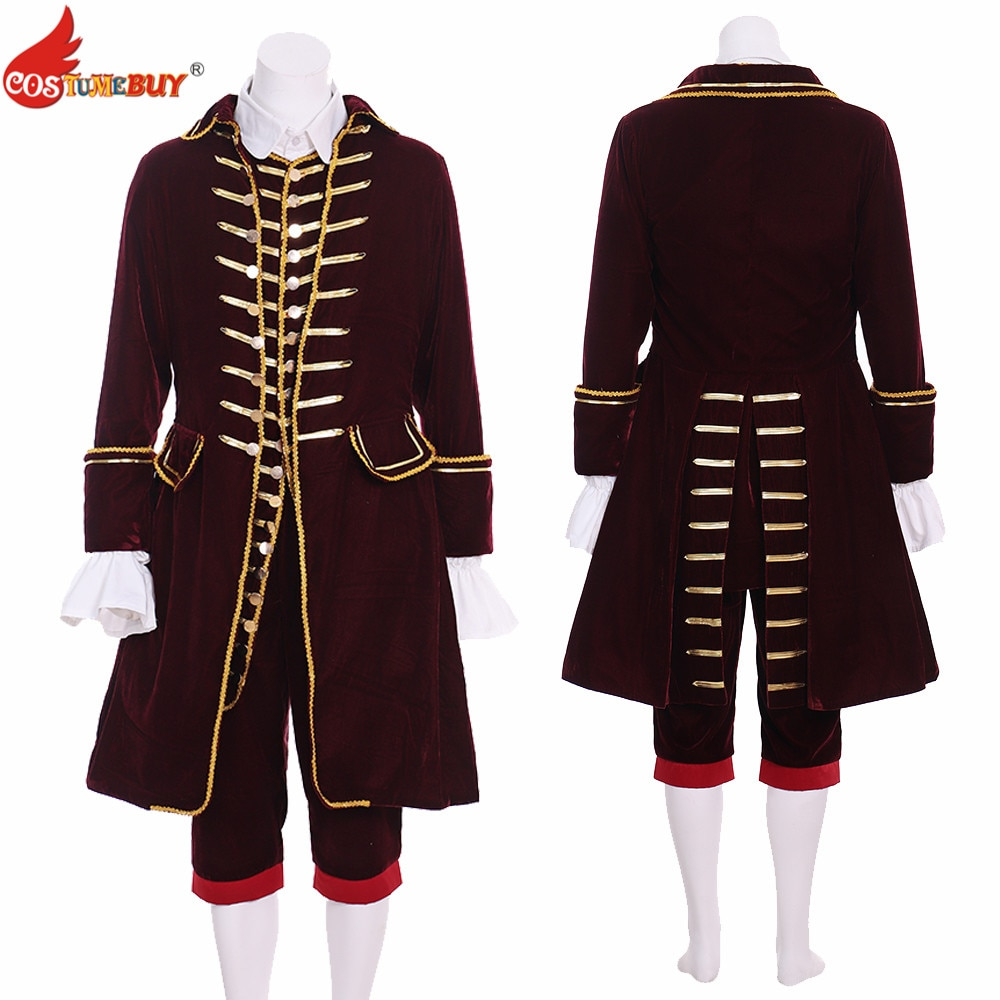 Feito sob Encomenda Costume Masculino Tribunal Terno Colonial Washington Mediebal 18th Vitoriano Britânico Rococó Marie Antoinettte Traje