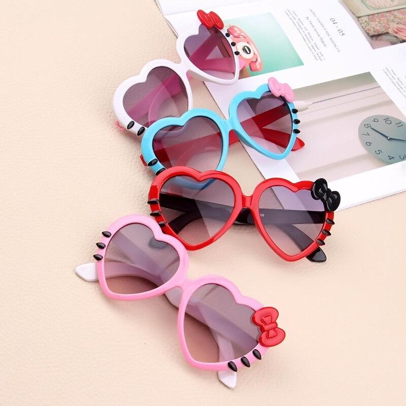 Модные детские солнцезащитные очки для детей милые детские очки Hello- Glasses оптом высококачественные очки кошачий глаз для мальчиков и девоче...