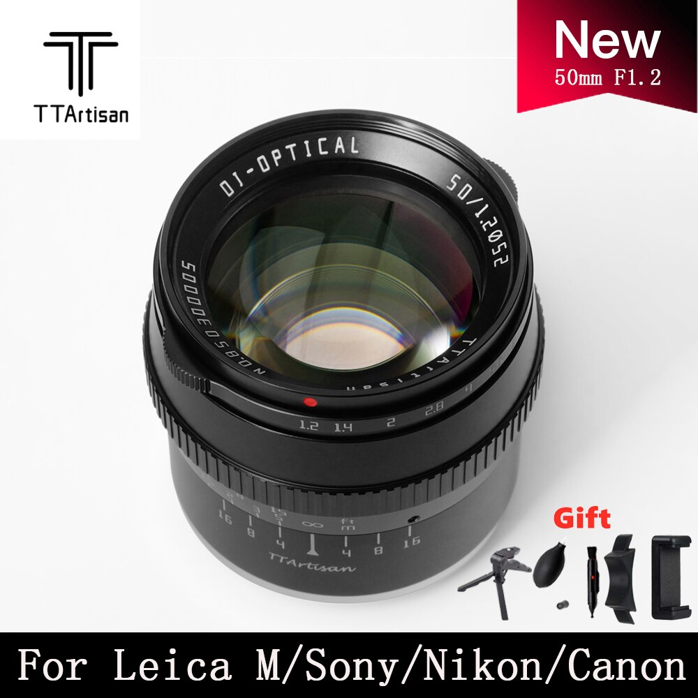 TTartisan كاميرات عدسة 50 مللي متر F1.2 APS-C التركيز اليدوي لسوني E جبل فوجي فيلم كانون EOS-M لايكا L نيكون Z باناسونيك أوليمبوس M43
