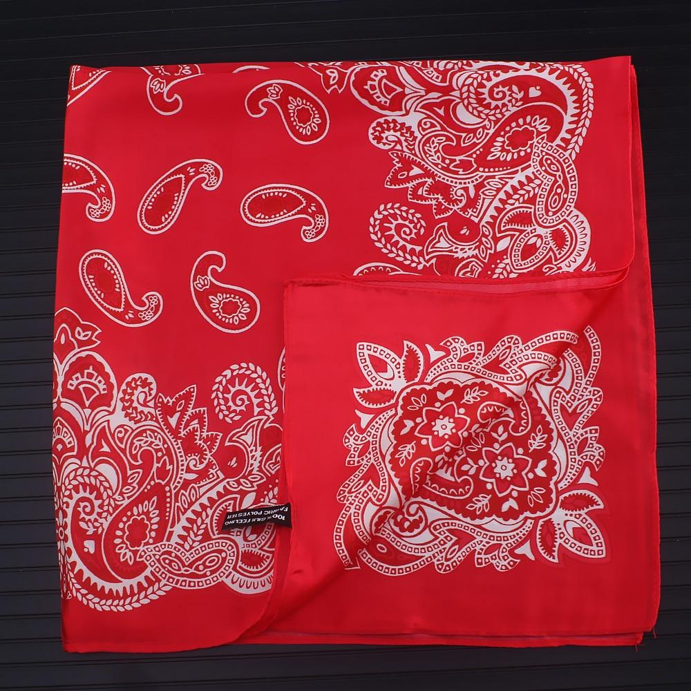 Paisley Silk Scarf Bandanna Women Scarf Fashion Square Scarves Silk Feelling Scarf Head Neck Tie Ban