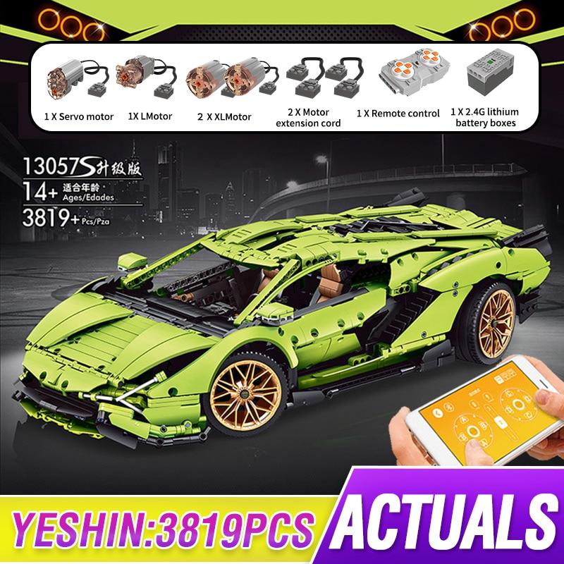 Mould King MOC High-Tech APP RC Car Toys Lamborghinis Sian FKP 37 Roadster Construction Building Blo
