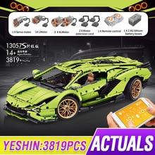 Mould King MOC High-Tech APP RC Car Building Blocks Lamborghinis Sian FKP 37 Roadster Construction B