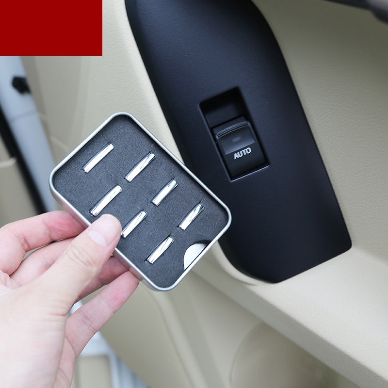 lsrtw2017 car window control button trims for toyota land cruiser prado 2010 2011 2012 2013 2014 2015 2016 2017 2018 2019 2020