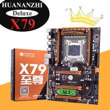 Remise HUANANZHI Deluxe X79 carte mère avec emplacement M.2 4 dimm 3 * PCI-E emplacements x16 2 ports SATA3.0 prise en charge de la mémoire 4*16G 1866MHz
